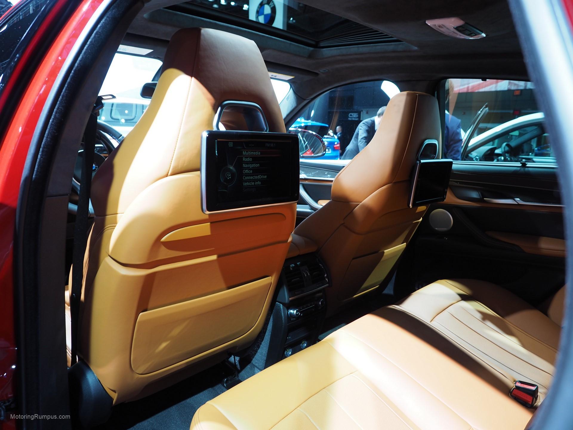 2016 NAIAS BMW X6M Rear Seats