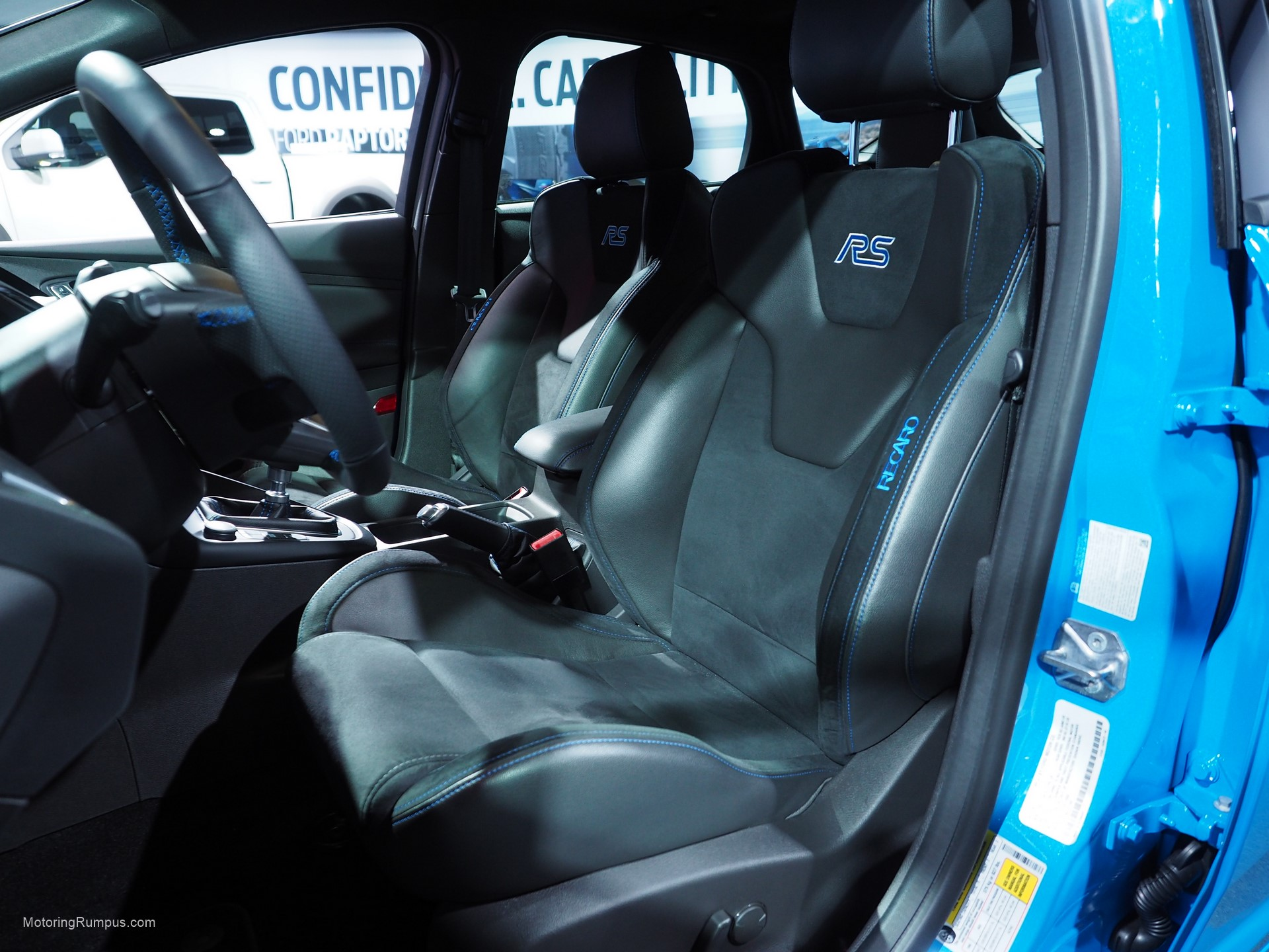 2016 naias ford focus rs recaro seats motoring rumpus. Black Bedroom Furniture Sets. Home Design Ideas