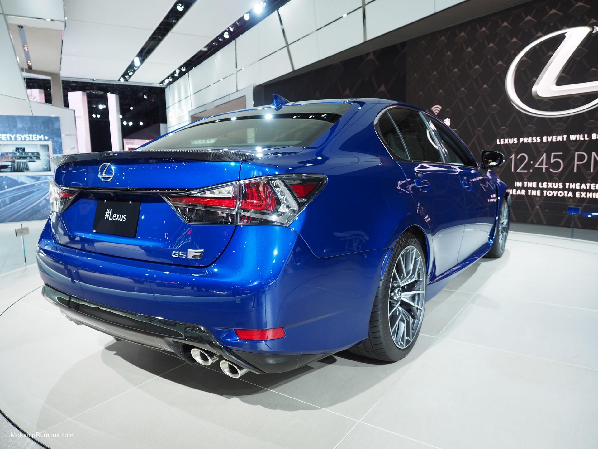 2016 NAIAS Lexus GS F Ultrasonic Blue Mica 2.0