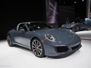 2016 NAIAS Porsche 911 Targa Graphite Blue Metallic