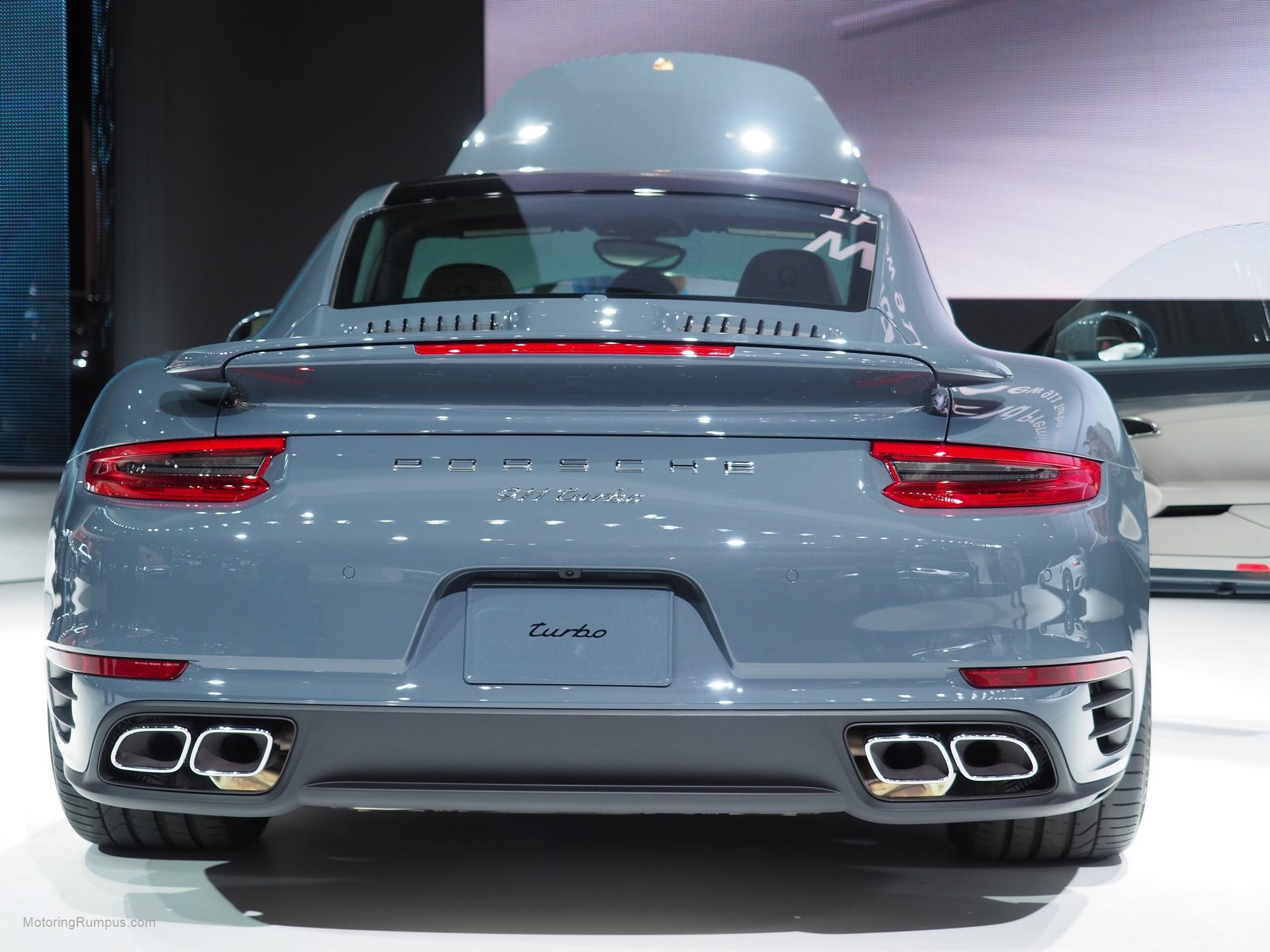 2016 NAIAS Porsche 911 Turbo Rear