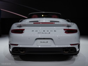 2016 NAIAS Porsche 911 Turbo S Rear