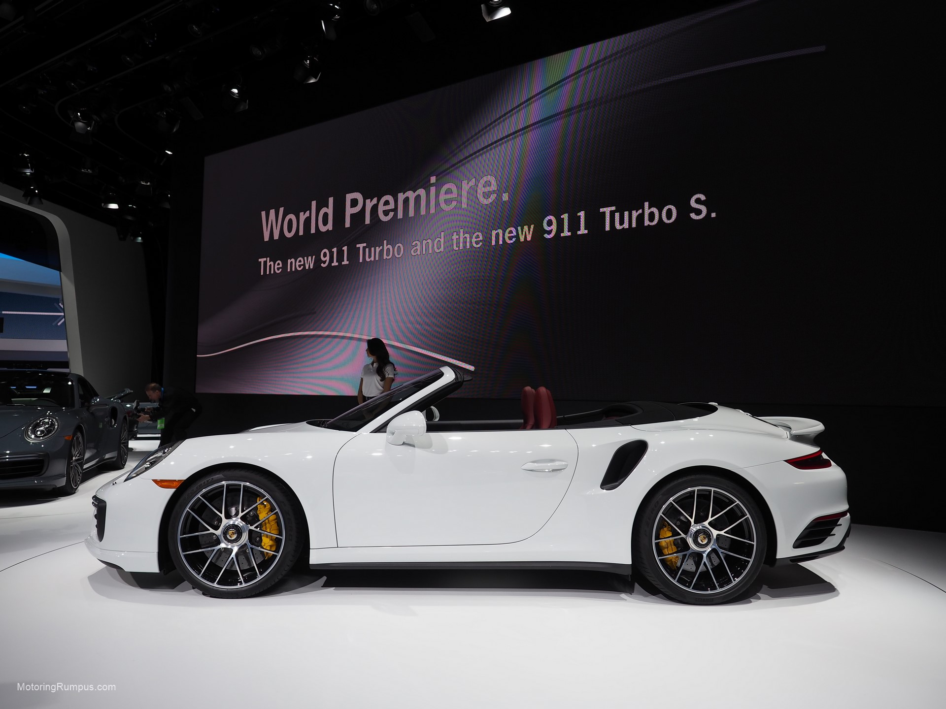 2016 NAIAS Porsche 911 Turbo S World Permiere.